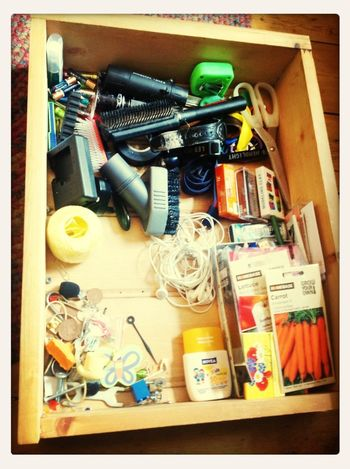 Sorting out the Man Drawer.