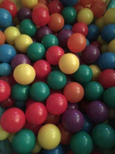Multi Colored Large Group Of Objects Backgrounds Indoors  No People Close-up Day Abundance Ball Pit Play Area Balls Colorful treated the kids to a new indoor ball pit and bigger balls ! You can never have enough balls , can you? 😂