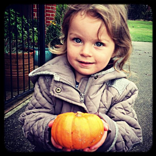 Autumn Colors nina and the baby pumpkin