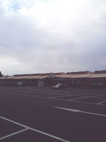 Some Deserted Market area in Melbourne. · Commerce Business Sunday Parking Lot City Life Gray Day