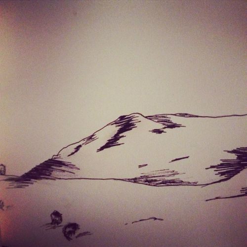 North Wales Mountains Drawings Fineliner Pencil Sheep Sketchbook Artstudents