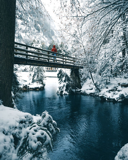 Nature The Week On EyeEm Tourist Attraction  Winter Beauty In Nature Blausee Blue Cold Temperature Day Forest Ice Lake Nature Outdoors River Scenics Snow Switzerland Tourism Tranquil Scene Tranquility Tree Water Weather Winter