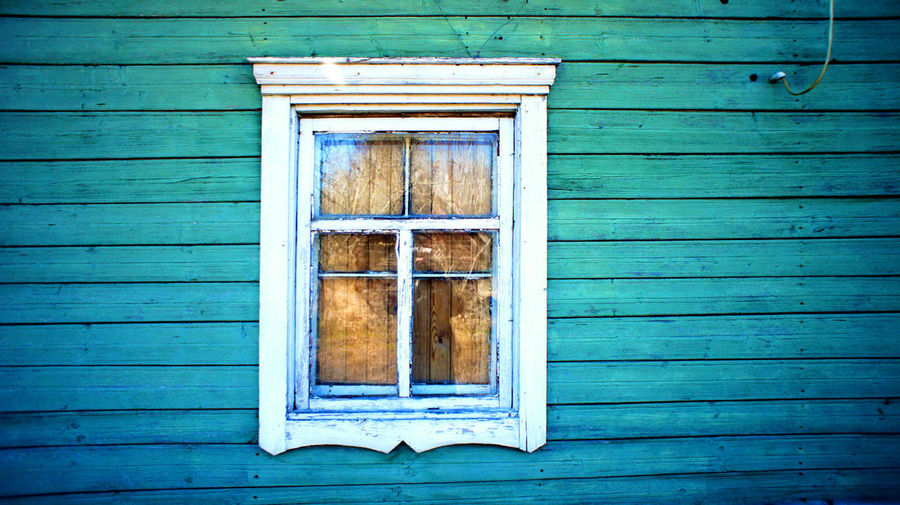 Abandoned farmhouse Architecture Blue Building Exterior Built Structure Close-up No People Outdoors Village Window Wood - Material