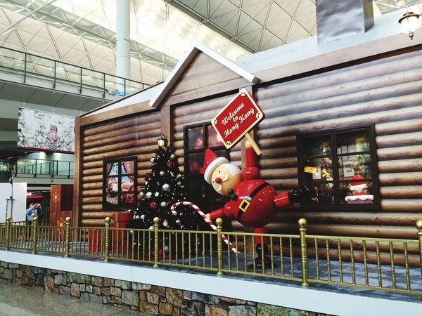 MerryChristmas 2015  Santaclaus HongKong Airport