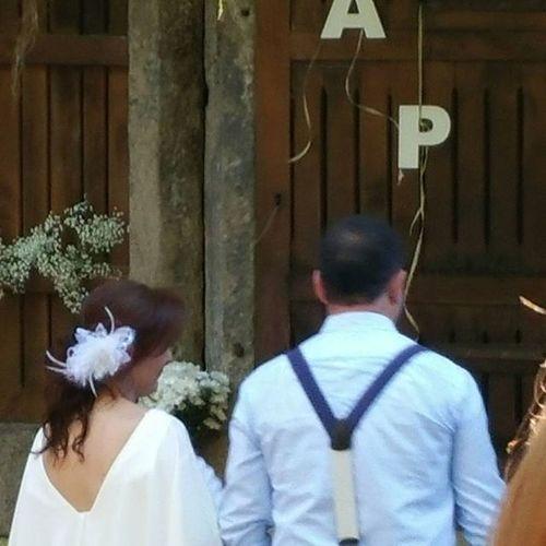 Los protagonistas del cuento. Boda A & P Alea Aleafloristerias Bodas Bride Celebration Wedding Couple Novios Comieronperdices Lovemyjob