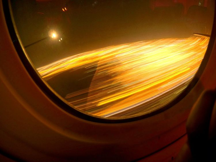 Light Trails 20000 feet above Long Exposure Lightexperiment TrappedVisuals Lightpainting Boeing 777 Airplane Qatarairways Qatarlife Mid-air Flying Window View Windowseatphotography EyEmNewHere