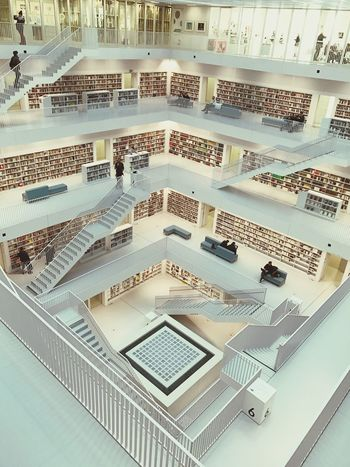 Bibliotheque Bibliothek Stuttgart Livres Books Stadtbibliothekstuttgart