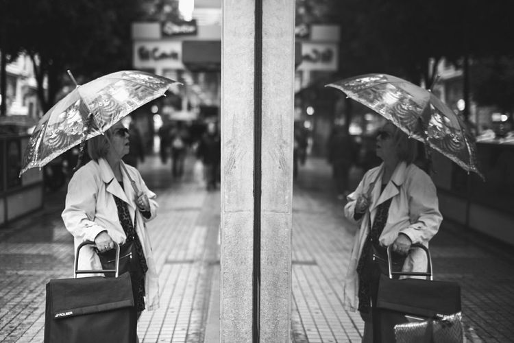 Oh it's me City Women Valencia, Spain Canon_official Canon 6D Canonespaña Canonshooter Rainy Days Reflection Reflections And Shadows 3lentescom Oopsygram Spain♥ Black & White Byw Embarace Urban Life