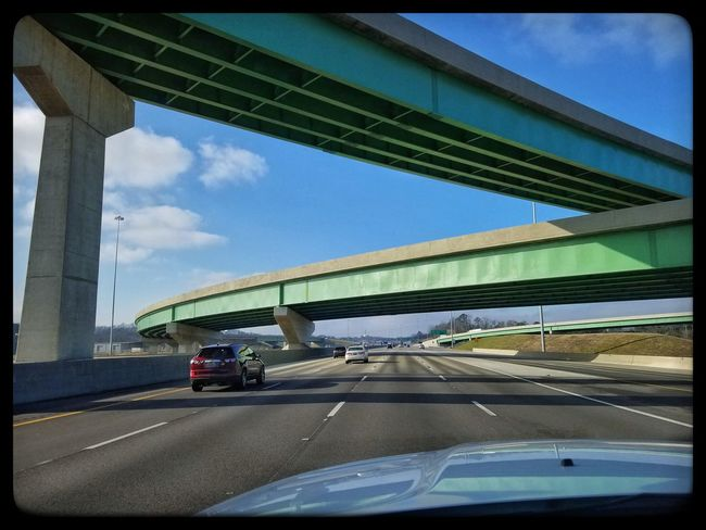 Car Transportation Land Vehicle Bridge - Man Made Structure Mode Of Transport Sky Road