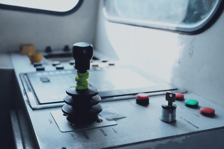 Close-up of nautical equipment