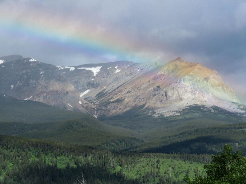 Rainbow over Alberta Canada Rainbow Mountains Waterton Lakes National Park Alberta Canada National Park Nature_collection Blue Sky Postcode Postcards Perspectives On Nature Summer Road Tripping The Great Outdoors - 2018 EyeEm Awards