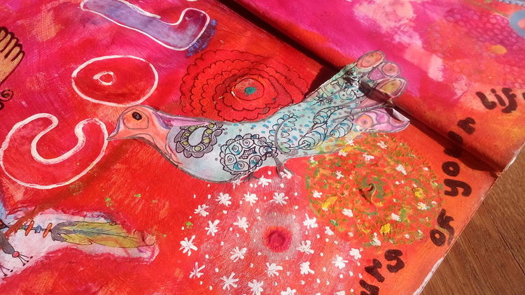 I Love Colour I Love Art Mixed Media Bright Colours My Art Following My Bliss Art On Eyeem Painted Page Art Journal Page Colour Happiness Zentangle Paint The Colours Of Your Life Heather Fifield Skwirrel Heaven Colour Of Life Painted Bird & Flowers