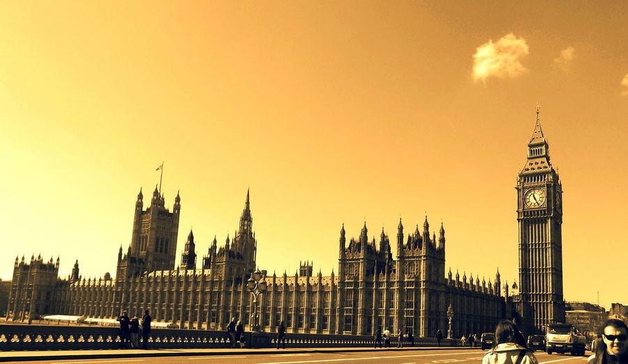 Golden London Architecture Bigbang City Clouds England Golden History International Landmark London Sepia Vintage