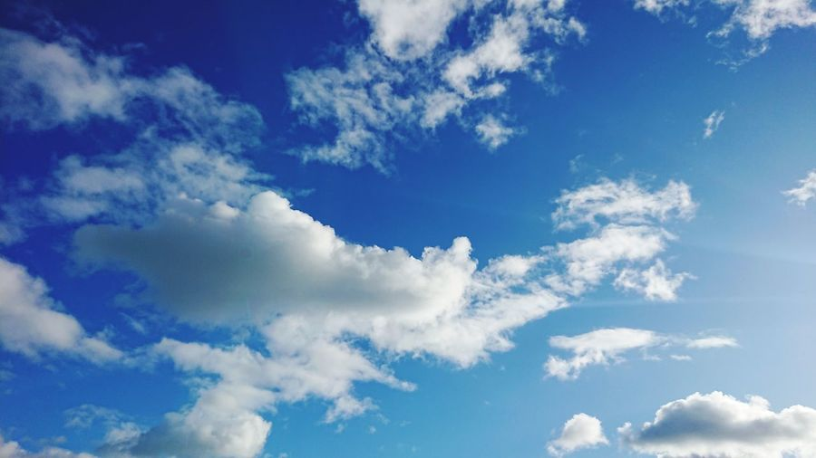 Cloud - Sky Blue Fluffy Nature Sky Cloudscape Day Dramatic Sky Bright Sun Outdoors Backgrounds No People Beauty Clouds