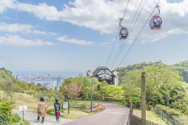 Ropeway Sky Real People Cloud - Sky Nature Day Transportation Plant Lifestyles Men Tree Leisure Activity Cable Car Cable Beauty In Nature People Architecture Mountain Water Sport Built Structure Outdoors