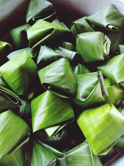 Traditional Culture Style Food Sweet Food Asian Culture Asian Foods Backgrounds Full Frame Vegetable Close-up Green Color Food And Drink Raw Food Banana Leaf Leaf Vein Leaves Seed