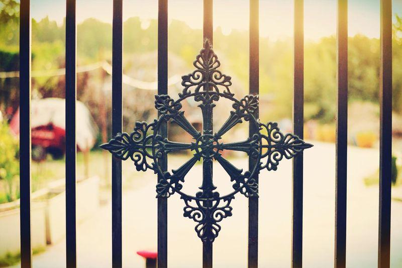 Full frame shot of metal gate