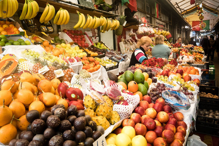 Fruits in market stall