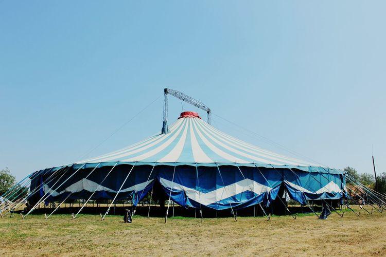 Circus Tent Against Blue Sky