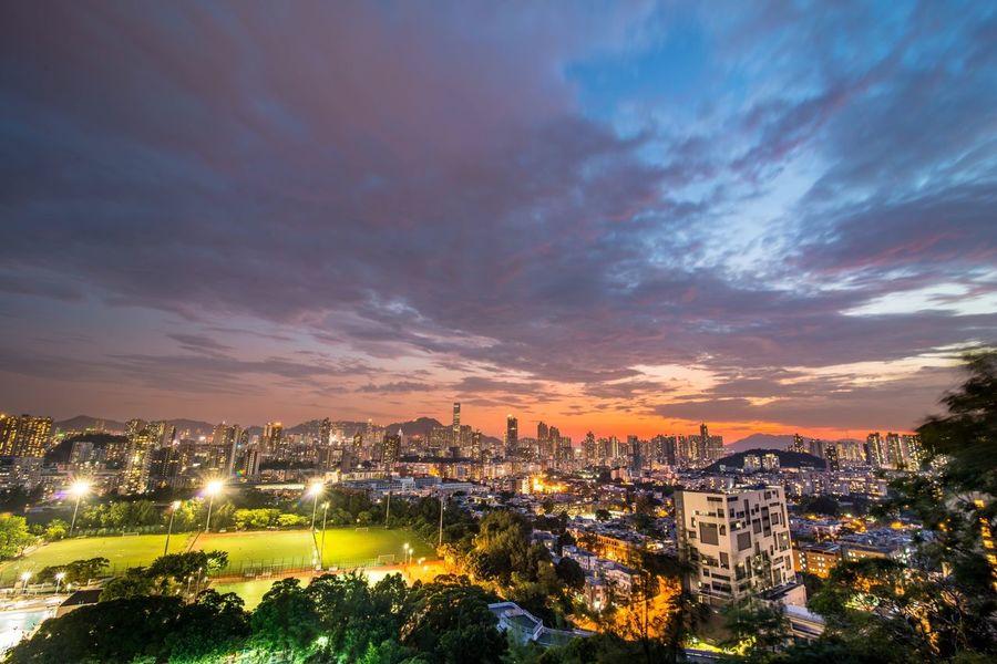 HongKong KowloonCity Kowloon Sunset Cityscapes