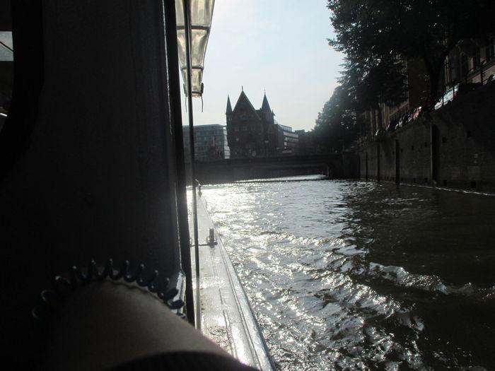 City Day Draußen Elbewasser Hamburg Speicherstadt MS Sabine Sabine Boot Water
