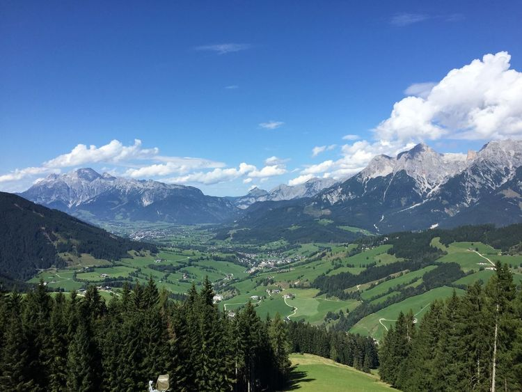 Mountain Valley Alps Alps Austria Beauty In Nature Day Landscape Mountain Mountain Range Nature No People Outdoors Sky Valley View