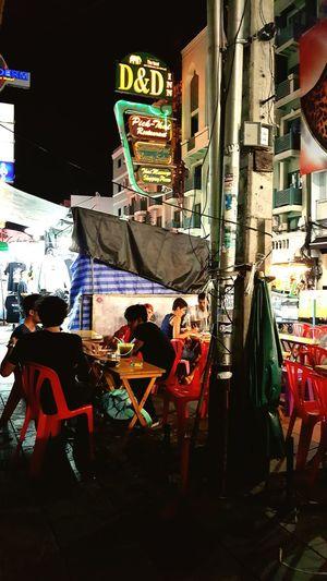 Night Built Structure Architecture Illuminated Outdoors City Thailand Bangkok Khoasanroad Nightlife Night Lights