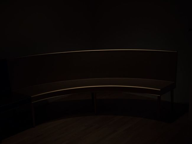Architecture Bench Black Background Indoors  Low Key No People
