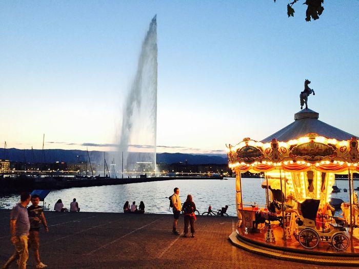 Geneva Giostra Jetdeau Swiss Lake Carillon