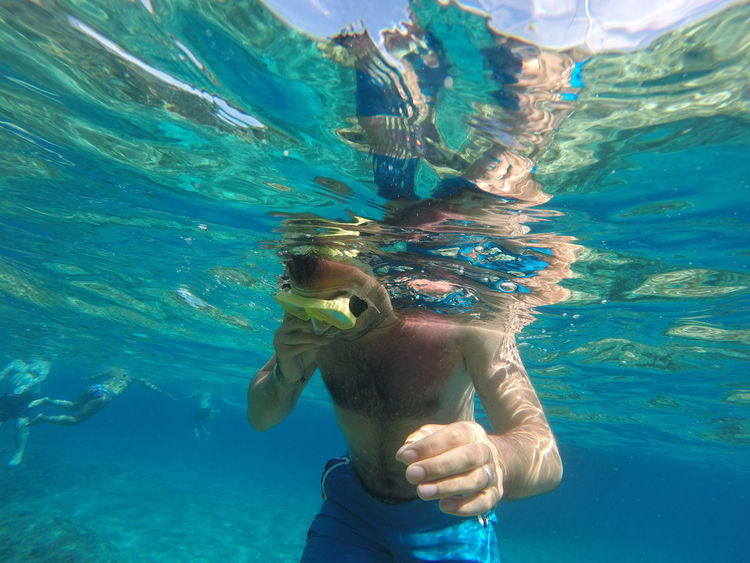 Blue Day Leisure Activity Lifestyles Nature Outdoors Rippled Sea Snorkel Snorkelling Water