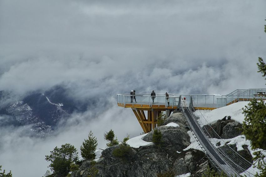 Squamish BC Canada Sea sky Fog Deck With Fog Canada Vancuver Sea To Sky Sea To Sky Gondola Tree Water Sky Cloud - Sky Storm Cloud Cyclone Tornado Thunderstorm Extreme Weather Forest Fire Bad Habit Forked Lightning Torrential Rain Smoking Cumulonimbus