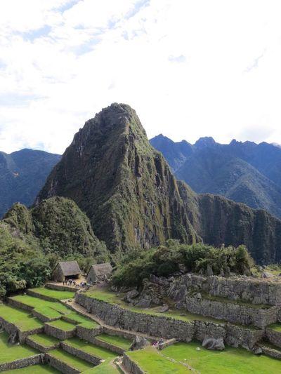 Mountain Mountain Range Scenics Tranquil Scene Landscape Tranquility Nature Day Beauty In Nature Outdoors No People Travel Destinations Sky Tree Grass Inca Ruins Peru Machu Picchu Huayna Picchu
