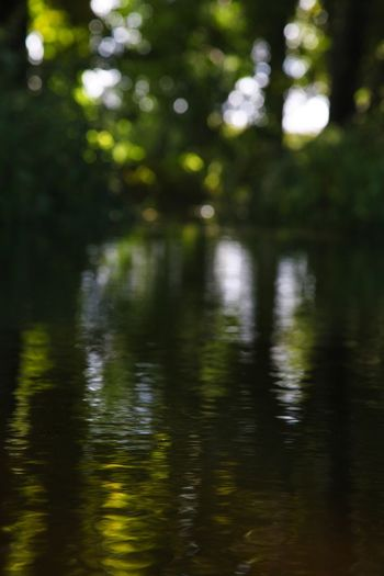 sleeping water Springtime Summer Water Reflections Tranquility Relaxing Silence Melancholy Harmony Boat Leisure Activity Canals And Waterways Canal Reflection Tree Outdoors Nature No People Water Green Color Beauty In Nature Defocused Forest