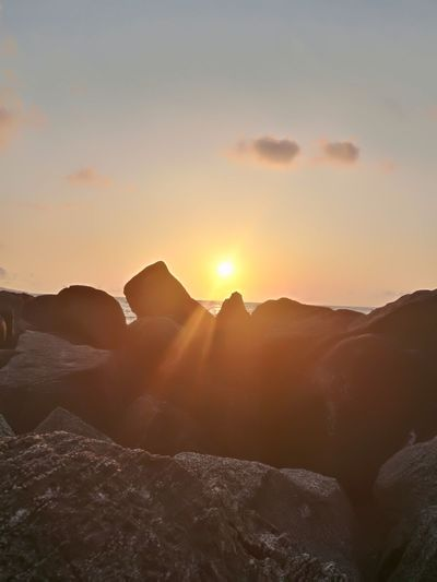 Sunset Nature No People Beauty In Nature Sunlight Sky Sun Cloud - Sky Cold Temperature Nature Beauty Natural Beauty Tranquil Scene Weather Calabria Italy Sunset Sun Sea Season Summer Calabriadascoprire 🐼 Love This 💜 Clear Sky Mare ❤ Water Beach Calabria (Italy) Beautiful ♥ Rock Rock - Object