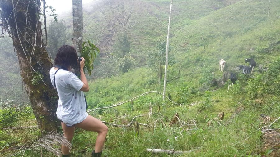 EyeEmNewHere Selvas Vírgenes Colombia ♥  🇨🇴 Mi Pasión Photography Nature Casual Clothing Full Length Standing Two People Day Leisure Activity Tree Outdoors Grass Togetherness Girls People Lifestyles Growth Spraying Beauty In Nature Water Women Adult