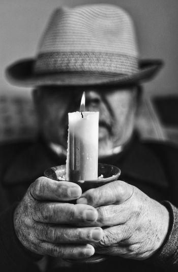 Blackandwhite Black And White Siyahbeyaz Siyahvebeyaz Black & White Portrait Photography Portrait Siyah&beyaz  Portre EyeEm Best Shots Eyeemblack&white Human Hand Flame Close-up Burning Fire - Natural Phenomenon Fire Wax Candle Candlelight
