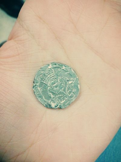 I saw this screwed up coin, one of a kind. Coin Tails Odd