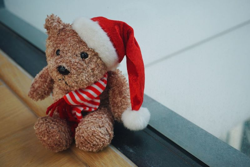 Teddy Bear Stuffed Toy Toy Red Childhood Indoors  Toy Animal Lonely Cute Teddy Softness Christmas Stocking Stuffed Close-up Day Christmas Decoration EyeEmNewHere