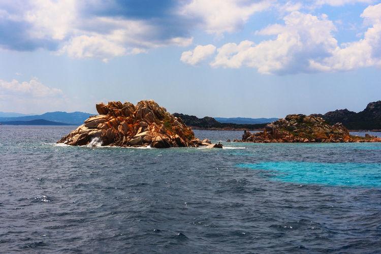 Sea and sky in the maddalena archipelago in sardinia