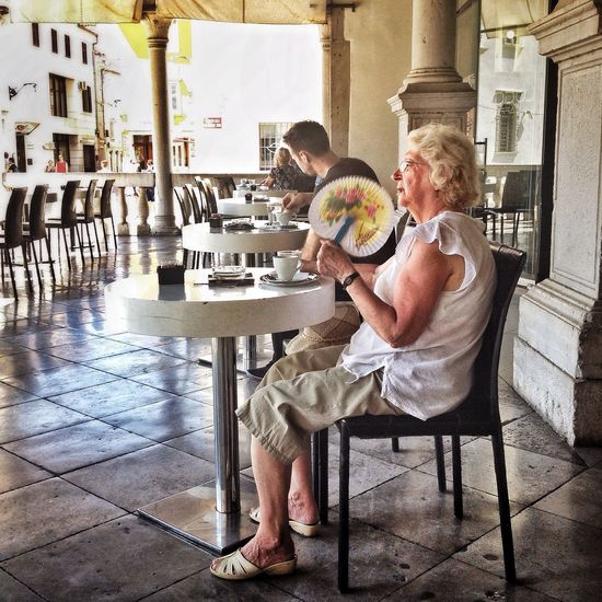 Loggia caffe Koper Hot Day Faces Of Summer Streetphotography The Street Photographer - 2015 EyeEm Awards Relaxing People Watching