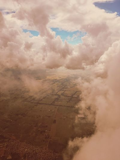 Aerial view over South Africa. Aerial Aerial View Airplane View Airplane Window View Beauty In Nature Blue Sky Cloudy Idyllic Landscpae Nature Patchwork Landscape Sky Sky And Clouds Skyscape