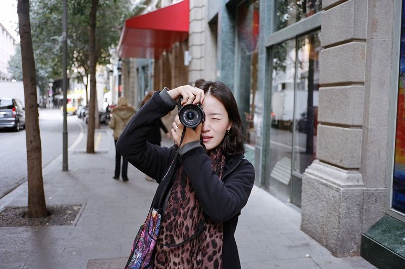 Kodak Portra Film Streetphotography Taking Photos People Traveling Barcelona Enjoying Life