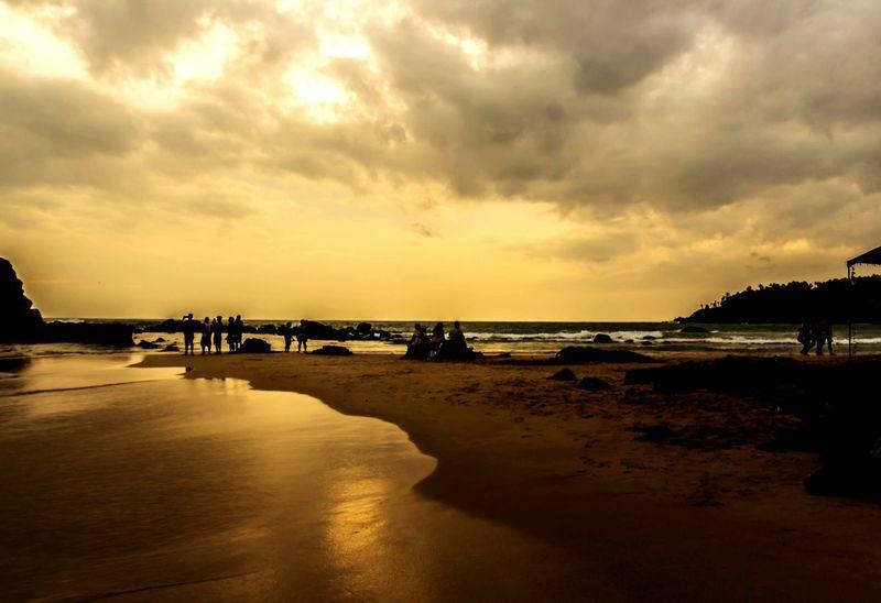 Sea Sunset Beach Water Sky Mirissabeach SriLanka