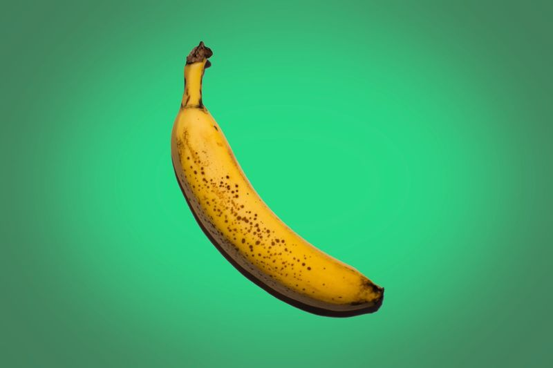 🍌 Banana Fruit Food And Drink Yellow Studio Shot Single Object Healthy Eating Colored Background Lifestyles Pastel Funny Rethink Things
