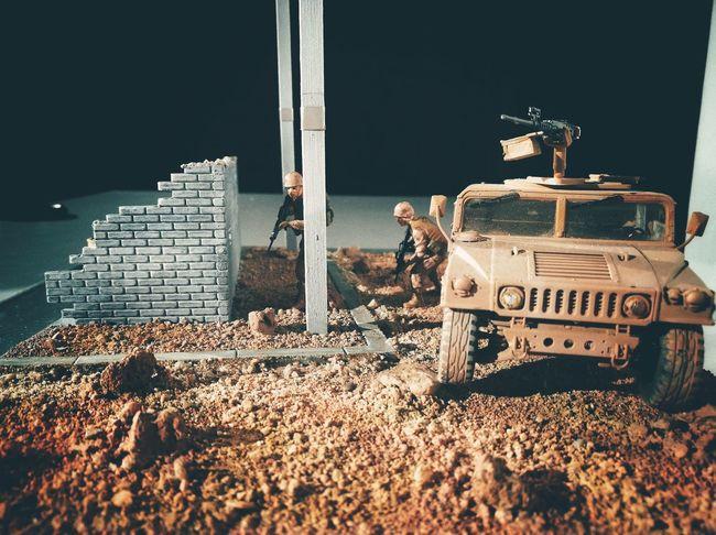 Model of war / Maqueta de guerra. Toys Minifigures Sand Simulation Combat Action Soldiers Soldados Model War Armed Forces Acción Combate Fuerzas Armadas Maqueta Guerra Ejército Transportation Army Military