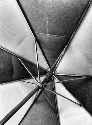 Blackandwhite Umbrella Looking Up Pattern, Texture, Shape And Form
