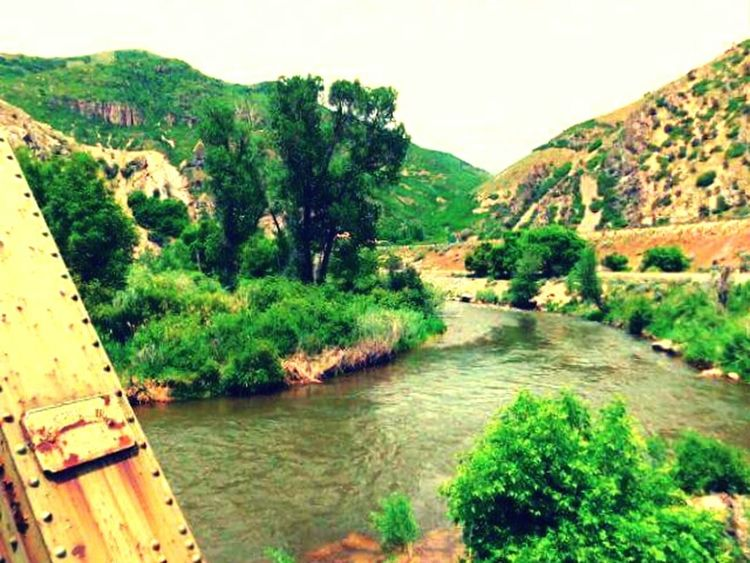 """""""Where The River Flows"""" Weber River. Taking Photos Standing On A Bridge"""