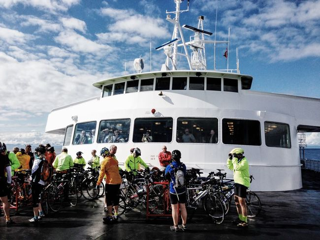 Bicycle Bicyclists Composition Day Destination Exploring Ferry Ferryboat Journey Mode Of Transport Outdoors Perspective Recreational Pursuit Riding Stationary Transportation Travel Washington State Ferry Wide-angle Feel The Journey On The Way