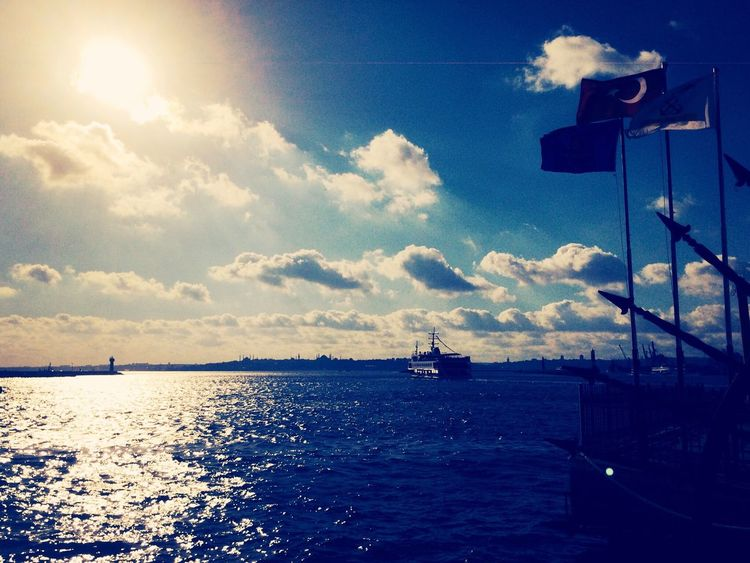 Ferry Soaking Up The Sun Great Atmosphere Hello World