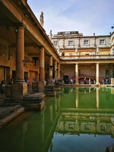 Roman Bath Travel Destinations Architecture Tourism History Day Outdoors Sky Reflection People This Week On Eyeem Pool Swimming Pool City Photography EyeEmbestshots Eyeemphotography EyeEm Gallery Huawei P9 Leica Huaweip9photos HuaweiP9Photography Eye4photography  Building Exterior Water Built Structure